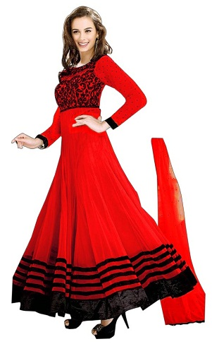 red salwar kameez designs