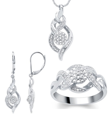Fashion Diamond 3-piece necklace Set -6