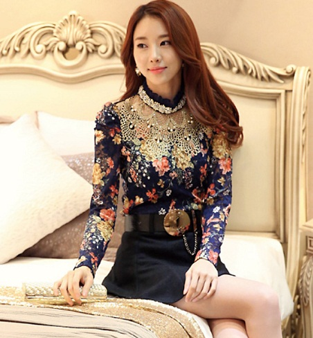 Floral Top with Embroidery