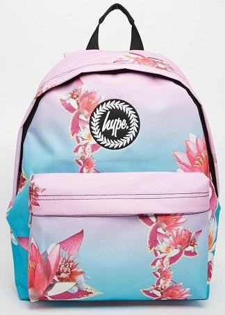 Flower Print School Bag for Girls -6