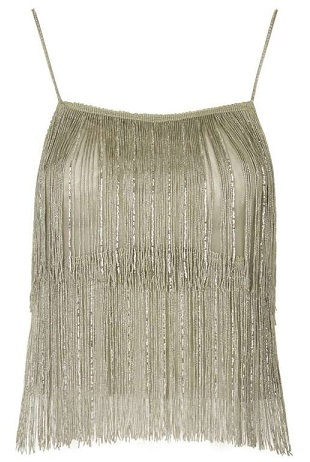Fringe Sleeve Party Top