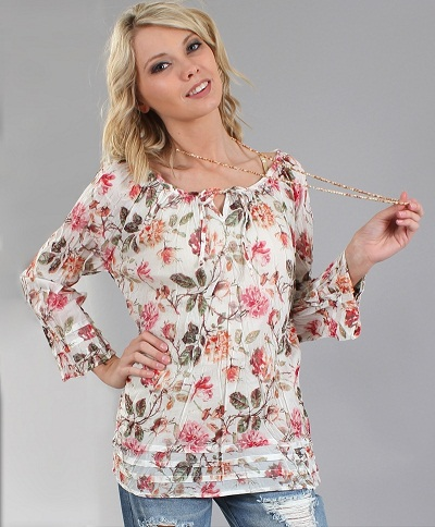 Full Sleeve Floral Top