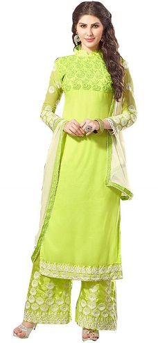 Georgette Long Salwar Kameez Suit Design