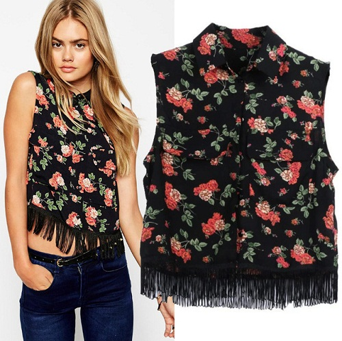 Girl's Floral Top