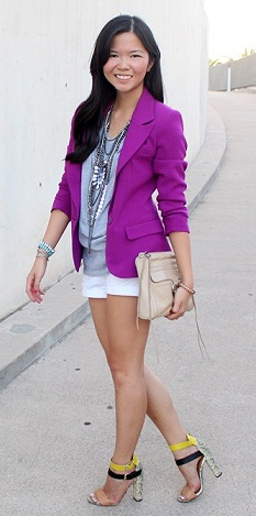 Girl's Purple Blazer