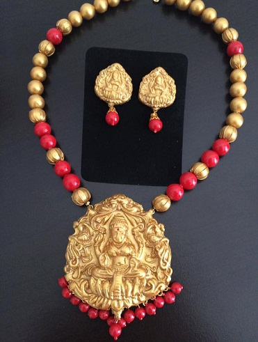 Goddess Lakshmi necklace set -2