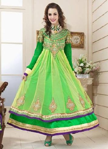 Green Anarkali Salwar Suit