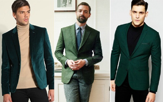 Green Blazers for Men