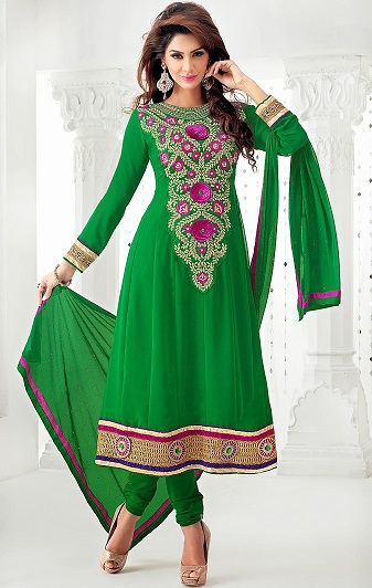 green salwar kameez designs