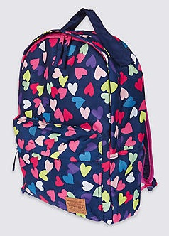 Heart Print School Bags for Young Girls -19