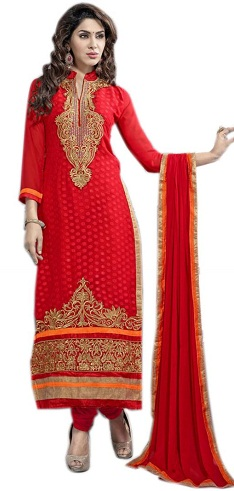 Hot Red Long Salwar Suit Design