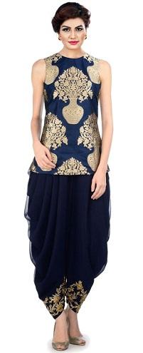 Indo Western Designer Salwar Suit Design