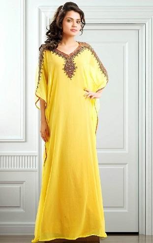 Kaftan Style Yellow Suit Design