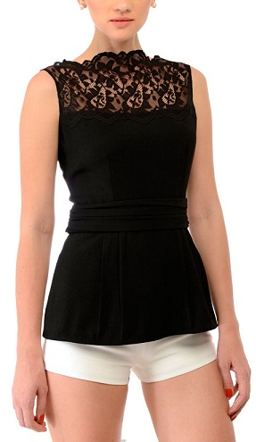 Lace and solid black top