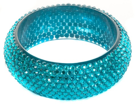 Large Plastic Crystal Bangle for Girls