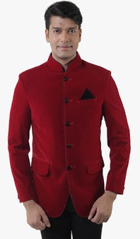 Lee Marc Red Solid Blazer