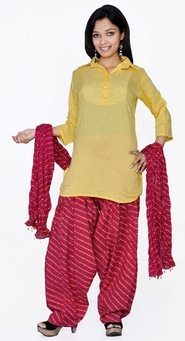 Leherya Print Salwar Suit