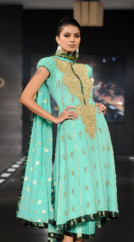 Light Green Anarkali Suit