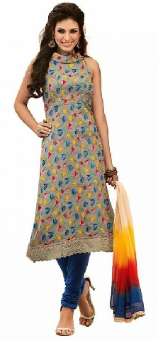 Long Cotton Salwar Suit Design