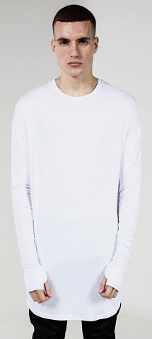 Long Oversized Sleeves Tops for Men