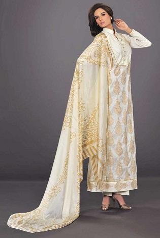 Long Silk Salwar Kameez Design