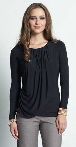 Long Sleeve Drape Nursing Top