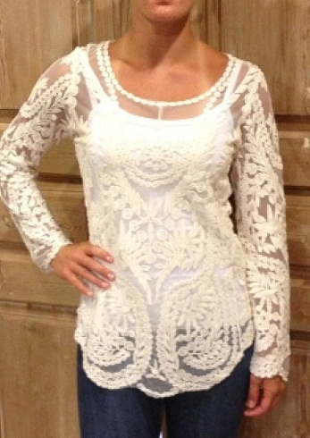 Long Sleeve Laced Top
