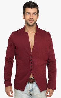 Lucfashion Men's Maroon Blazer