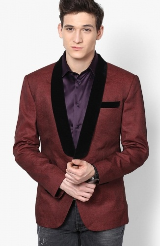 Maroon Blazer from Design Factory