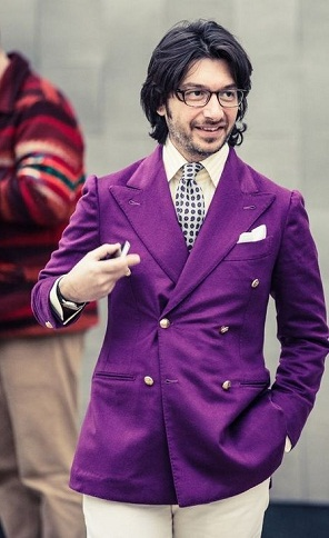 Men's Purple Blazer