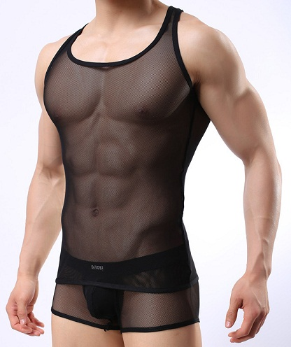 Men's sheer tank top