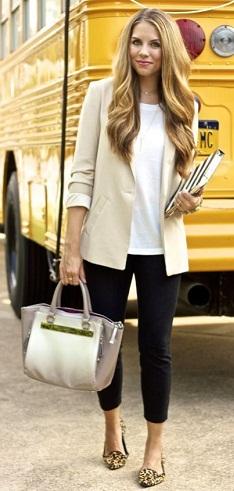 Men Style Cream Color Blazer for Ladies