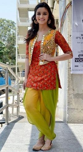 Mirror Work Coat Salwar Suit Design