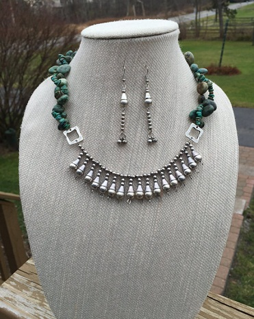Modern Silver necklace set -13