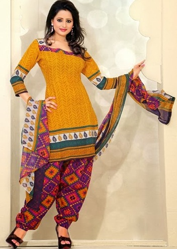 Multi Colour Cotton Salwar Suits