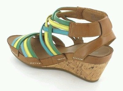 Multi Coloured Rust Free Clark Sandals
