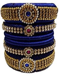 Navy Blue Bridal Bangles Set