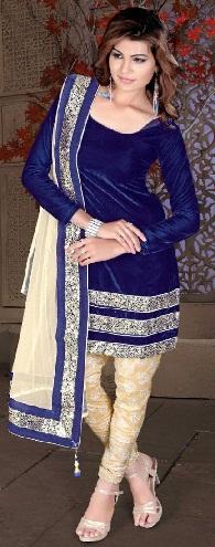 Navy Blue Short Kameez Suits Designs