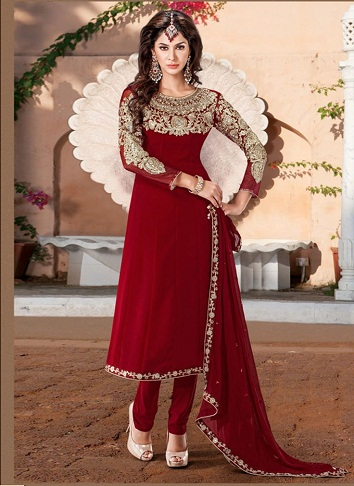 Neck work Salwar Suit