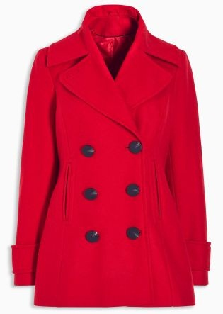 Next Red Pea coat Blazer