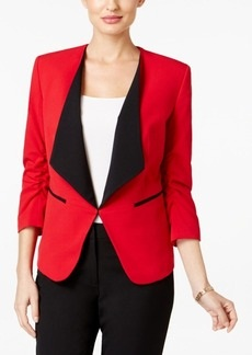 Nine West Ruched-Sleeve Blazer