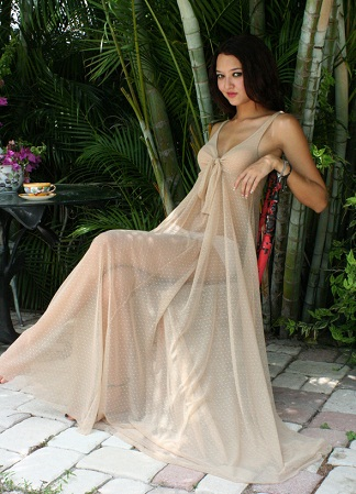 3de27339372 Nude First Night Lingerie  Nude First Night Lingerie. A nude gown can ...