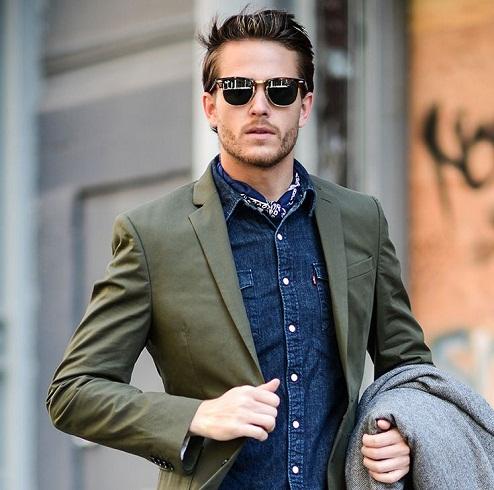 Olive Green Men's Blazers