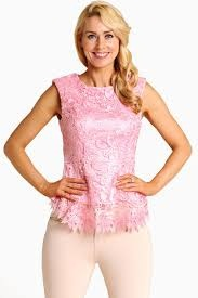 Overlaid Laced Baby Pink Top