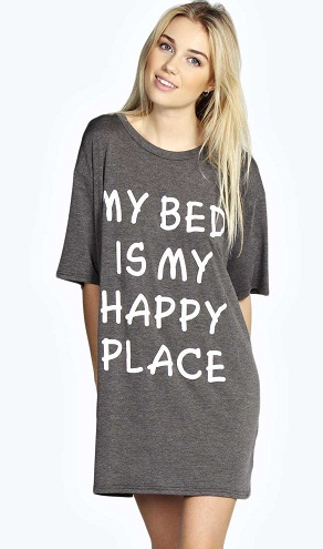 Oversized quoted t-shirts for night wear