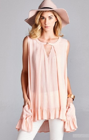 Pale Pink Tunic Top