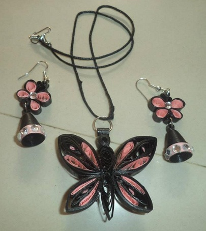 Paper Quilled Jewellery Set