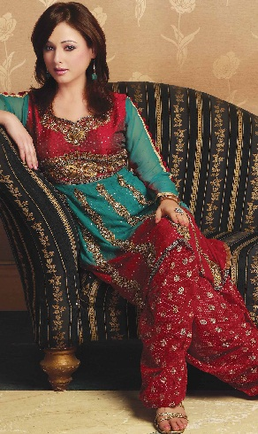 Party Wear Red Salwar Suit