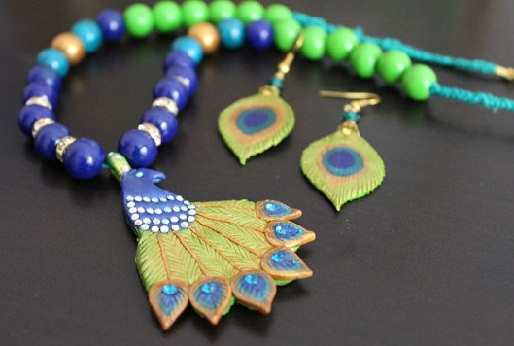 Peacock necklace set -3