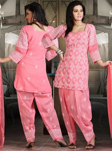 Pink Chicken Salwar Suit